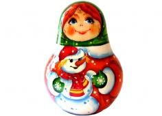 Девочка со снеговиком