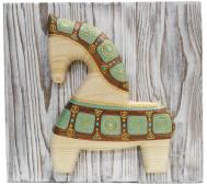 Лошадка-подвеска (этнические узоры)